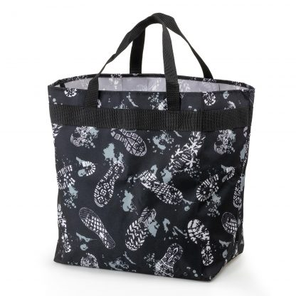 shopping bag with print - Footsteps