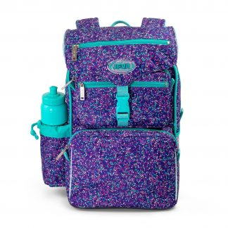 beginner's schoolbag for girls - JEVA Bubbles with glitter