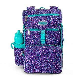 beginner's schoolbag for girls - JEVA Bubbles with glitter