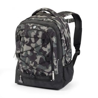 rucksack with green camouflage