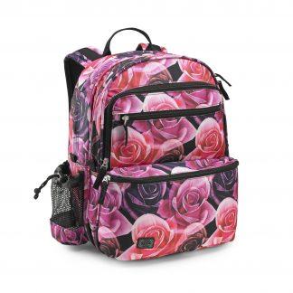children's rucksack with rose pattern