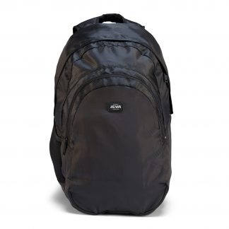 rucksacks for older students - Pure Black BACKPACK from JEVA