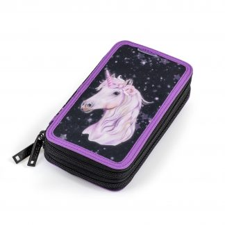 doubble pencil case with unicorn