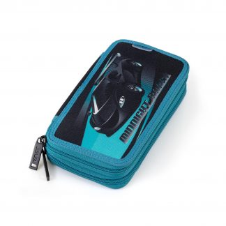 double pencil case with racing car