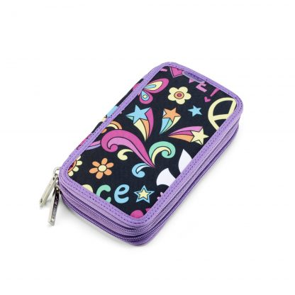 twozip pencil case Peace Pop from JEVA