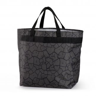 eco-friendly shopping bag in grey/black color
