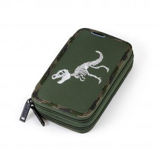 double pencil case with T-rex