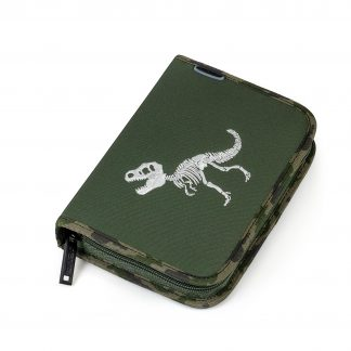 large pencil case with writing equipment - t-rex ONEZIP