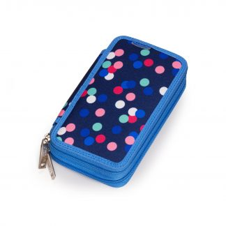 pencil case with polka dots