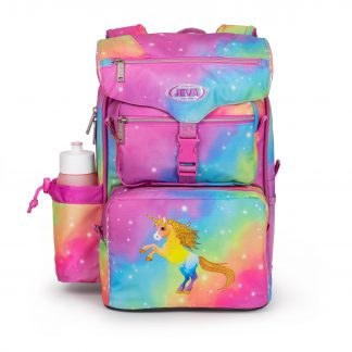 Rainbow Unicorn BEGINNERS schoolbag - unicorn with glitter