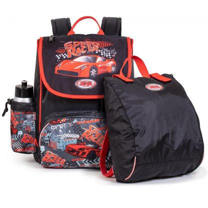 schoolbag incl. sports bag and drinkingbottle