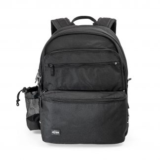 rucksack with room for a computer - black SQUARE