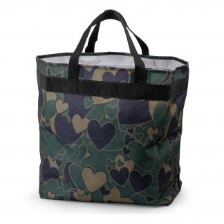 cool shopping bag with a heart pattern