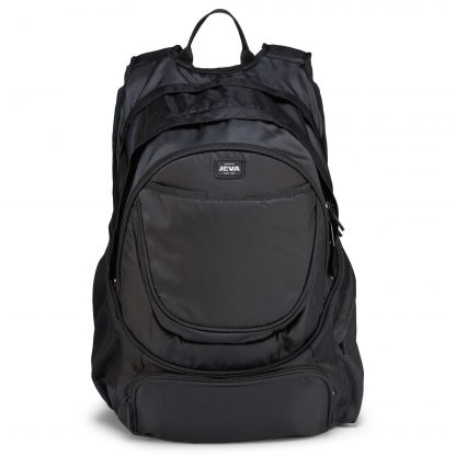 black backpack for older students: Pure Black BACKPACK XL with extra wide padded straps