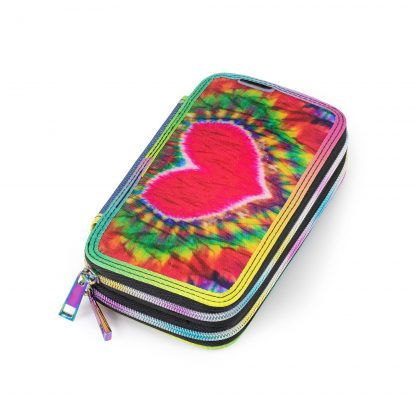 Yippie double pencil case with pencils