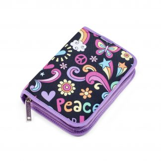 patterned pencil case onezip peace pop from JEVA