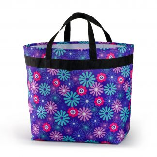 shopping bag with colourful flower pattern