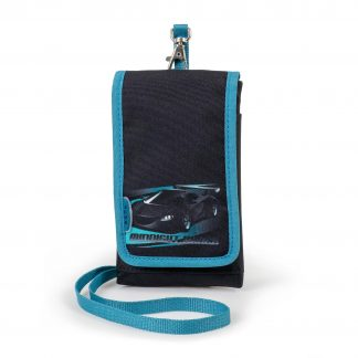 mobile bag with extra pockets and racing car print
