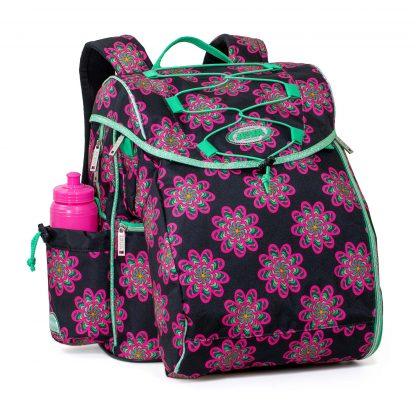 2019 school bag with neon pink flowers