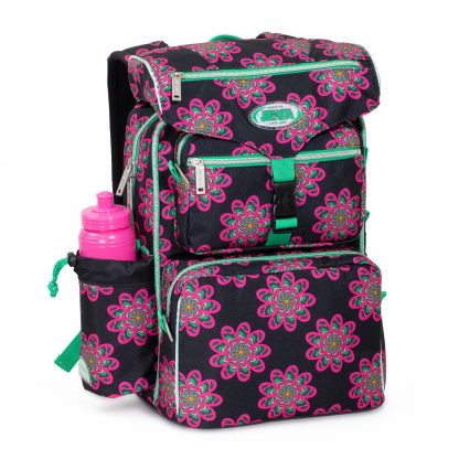 Beginner's schoolbag with insulated lunch box compartment