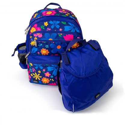 school bag with sports bag