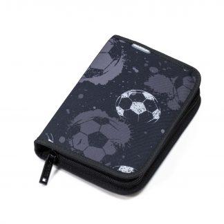 Defence ONEZIP black football pencil case