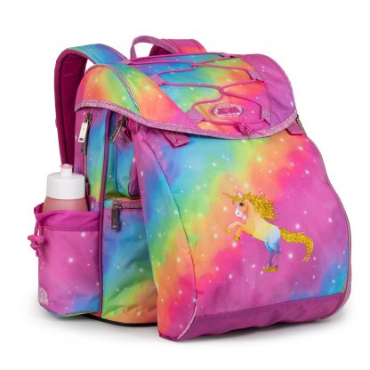 girls schoolbag with sports bag