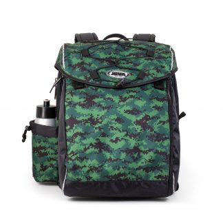 Schoolbag with pixelated camouflage
