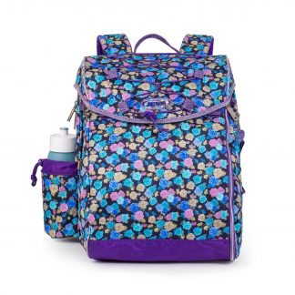 schoolbag with rose pattern