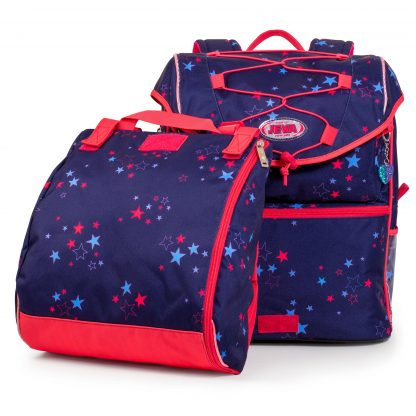 schoolbag with gymbag unstrapped
