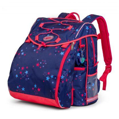 skoletaske med hjertevedhæng