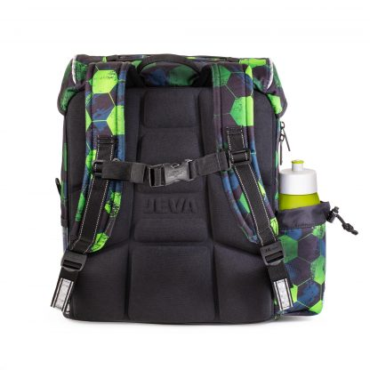 Football schoolbag with ergonomic foam back