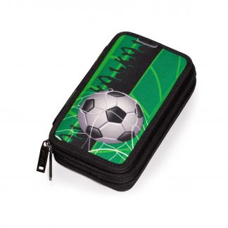 double pencil case with football motif