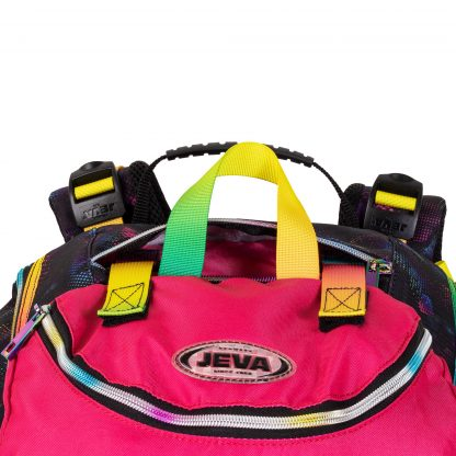 gym bag attached to the schoolbag