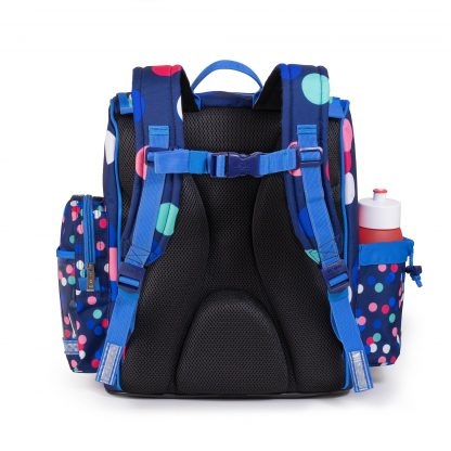 schoolbag with ergonomic panel back
