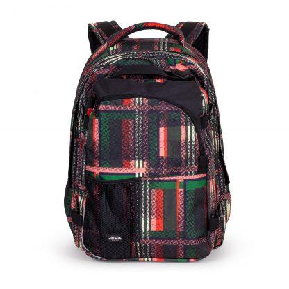 large chequered rucksack