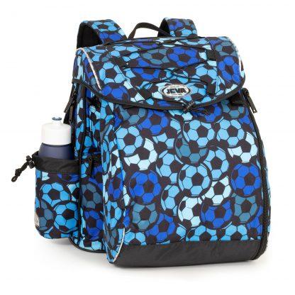 blue football schoolbag