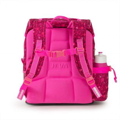Pink school bag ergonomic back support