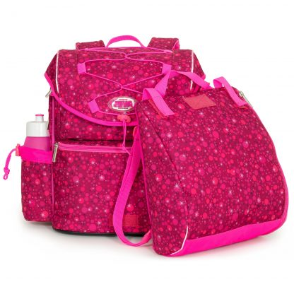Pink schoolbag with matching sports bag