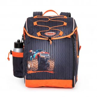 Schoolbag with monster truck