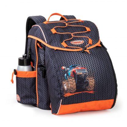 Schoolbag with monstertruck