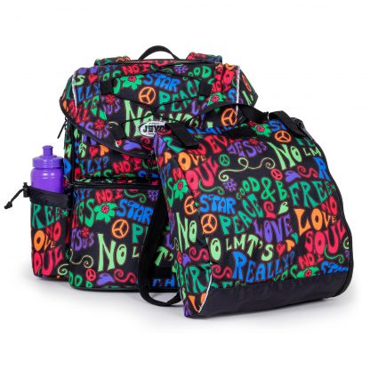 beautiful schoolbag with sports bag