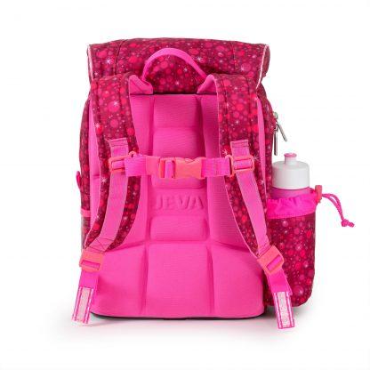 Super Pink beginners schoolbag has ergonomic back support