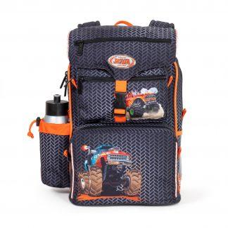 beginners schoolbag with monster truck