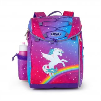 schoolbag with alicorn and glitter