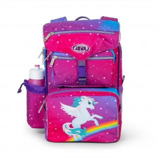 Beginners schoolbag with glitter