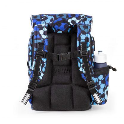 blue footballschoolbag with ergonomic back