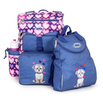 beginners schoolbag with gym bag