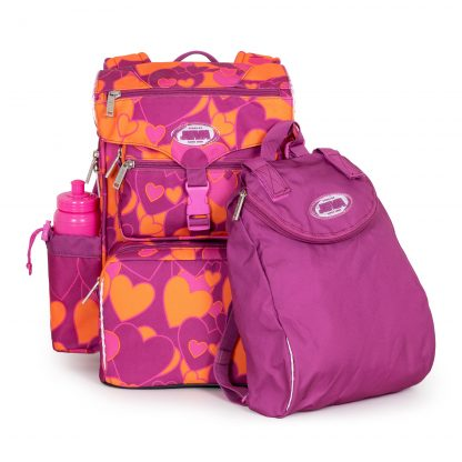 schoolbag with sports bag