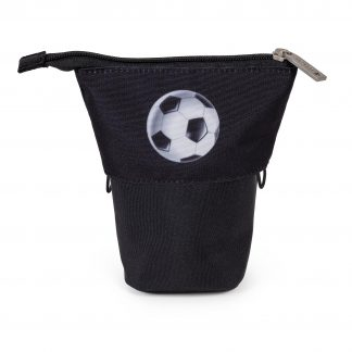 snap pencil case with football